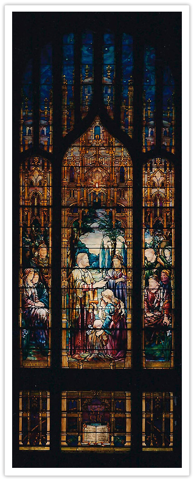 Christian Missions:  Tiffany Stained Glass